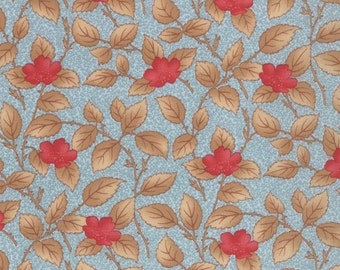 Lario - Leafy Blooms in Lake Mist by 3 Sisters for Moda Fabrics