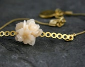 Bridesmaid Jewelry, Gold Bridal bracelet,Cherry Blossom Bracelet, Bridesmaid Gift, Gold ADJUSTABLE , Flower Girl,Plum Blossom Jewelry