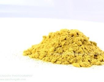 Bastard Teak Natural Dye. Butea Monosperma. Dye fabric & yarn into Tangerines and Yellows. Harvest of May 2016.  Freshest dyes. Always.