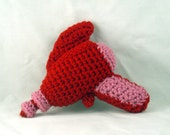 Crochet Raygun in Red and Pink - Baby's First Raygun