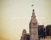 "San Francisco Photograph - Ferry Building Clock Tower -  Port Bay City Urban - Fine Art Photography - Laura Ruth - ""Port of San Francisco"""