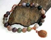 Jasper Tree of Life Gemstone Energy Bracelet Copper earthegy