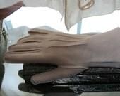 Gloves Light Tan Double Woven Nylon Size 7 Lee Begman