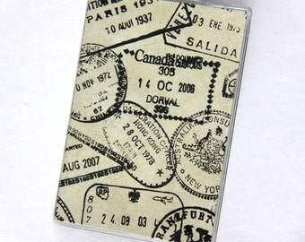 PASSPORT COVER - Country Passport Stamps
