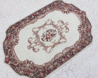 Miniature French Elegance Shaped Carpet  Choice of Colors 1:12 Scale