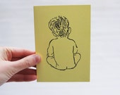 New Baby Card, you choose the color: Blue, yellow or Pink