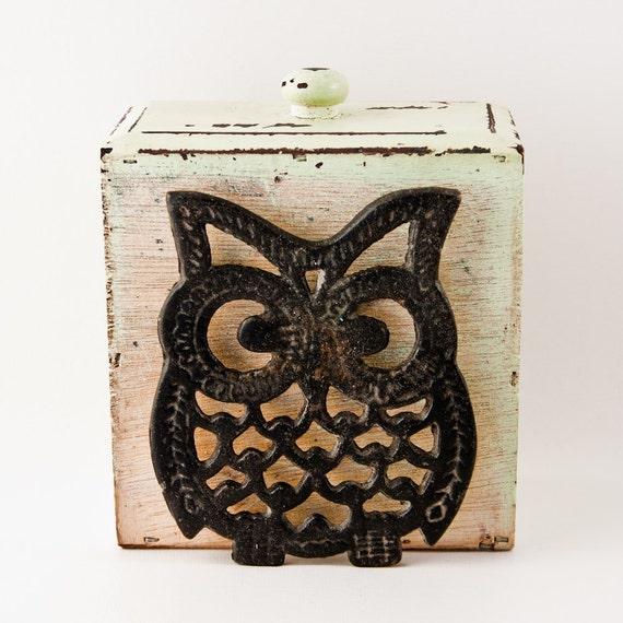 Vintage Owl Pot Holder Housewares Home Decor By Goodmerchants