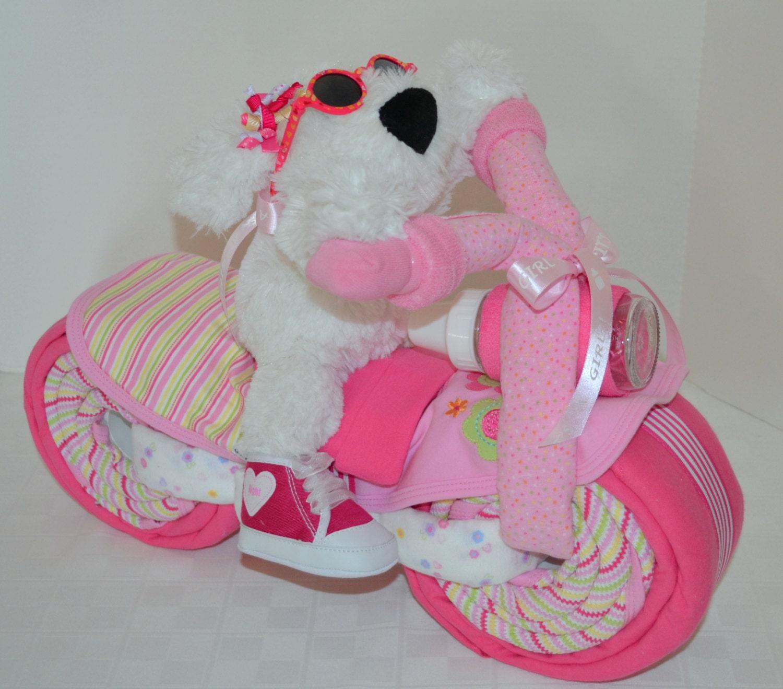 Diaper cake motorcycle bike diaper cake baby by arizonababycakes