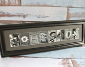Any Size Custom Name Frame - Letter Art Photography - Choose Your Frame, Matting and Photos - Wedding Gift