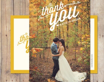Wedding Thank You, Wedding Thank You Card, Wedding Thank You Postcard - Rosemary