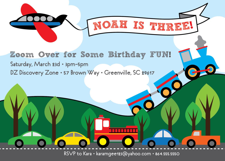Train Party Invitation with nice invitations ideas