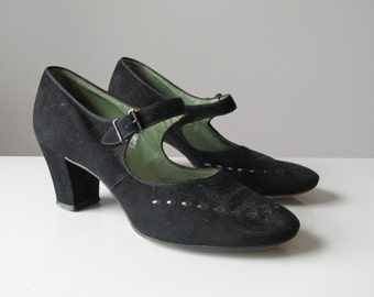 vintage 1930s shoes / 1930s mary jane shoes