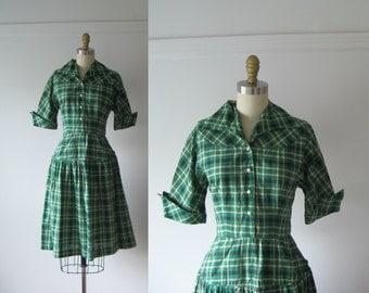 vintage 1950s dress / 50s dress / Study Hall