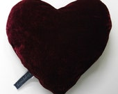 Wine Velvet Love Pillow