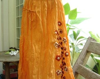 Nothing to Worry Long Skirt - Soft Orange2