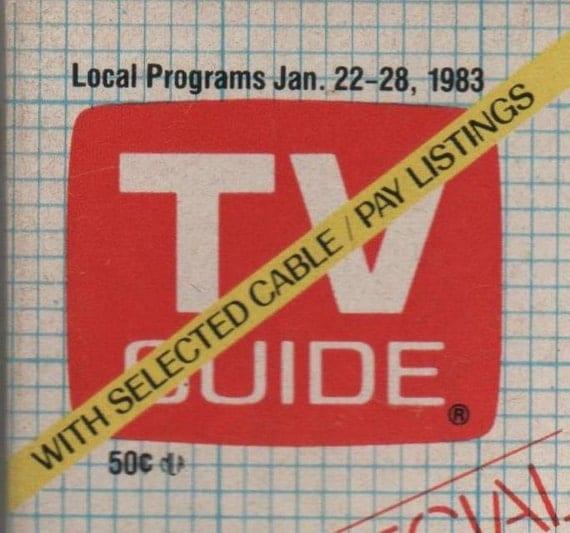 Vintage Jan 22 - 28 TV Guide Magazine 1983 Wonderful 30th Birthday or Anniversary Gift
