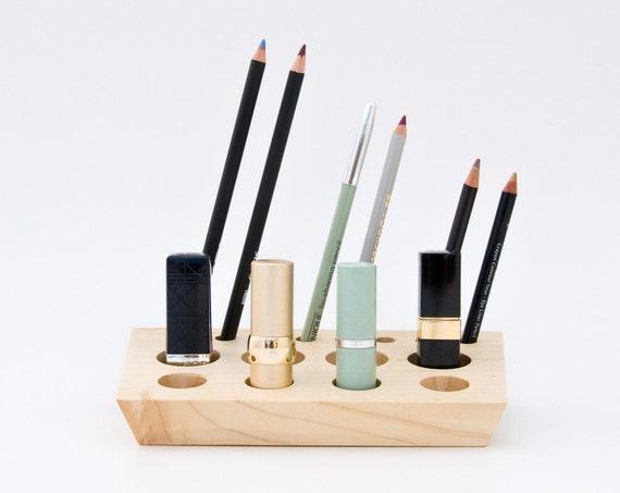 Wooden Lipstick Holder Lipstick Organizer Makeup Storage ELSA
