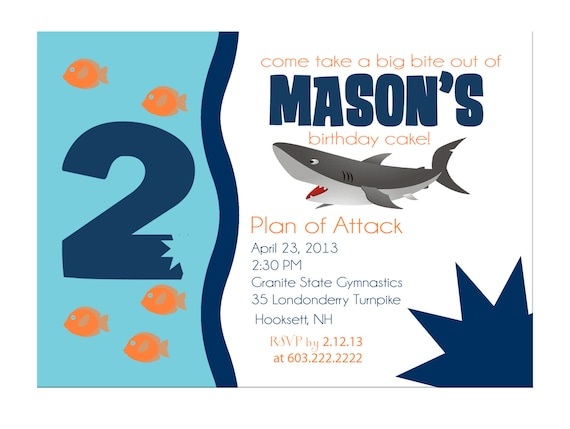 Shark Party Invitations for beautiful invitation template