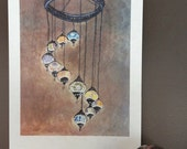 Moroccan Lights Sketch Print A4 by Chantal Vincent