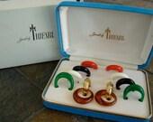RESERVED-1950s Vintage Multiple Earrings by Trifari