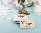 love letter necklace sterling silver personalized necklace new baby graduation promotion mothers day
