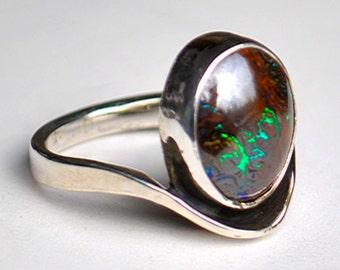Koroit Boulder opal Ring