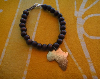 Little Brass Africa Charm Prayer Bead Bracelet / Anklet
