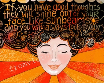 good thoughts 11 x 14 watercolor print