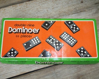 Double Nine Domino Set Vintage