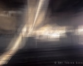 Fractured Light 5x7 print // Abstract, Urban, Photography, Gold, Gray, Dark, Mysterious - atgiese