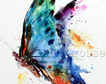 BUTTERFLY Watercolor Print by Dean Crouser