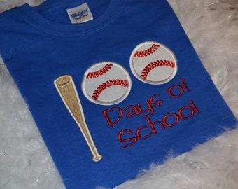 100 days of school applique t-shirt