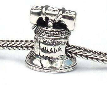 Liberty Bell Sterling Silver Landmark Beads LM023