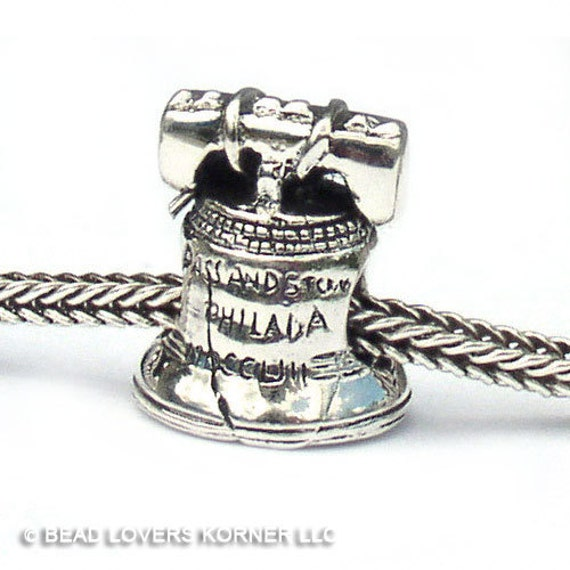 Liberty Bell Sterling Silver Landmark Beads LM023