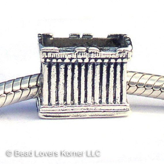 The Parthenon Athens Greece Landmark Charm Beads LM005