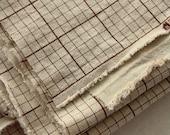Cotton Fabric Cloth -DIY Cloth Art Manual Cloth- Simple Grid Fabric 55 x19 Inches