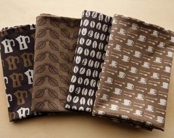 Cotton Linen Fabric Cloth -DIY Cloth Art Manual Cloth -My Coffee Fabric 54x35 Inches