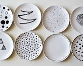 Mountain Mama set of 8 plates special order - SOLD