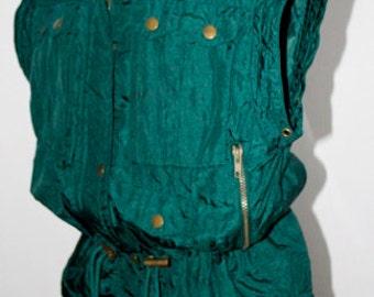 Vintage 1980's Bold Spirit - Teal/Emerald Green Jewel-Toned Vest -  VIntage 1980s Bold Spirit - Excellent Condition