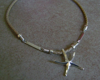 Men's or Women's Nautical Sandy Beach Starfish Pendant Necklace