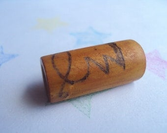 Bamboo Dread Bead - Freestyle Pyrographic -Ounce