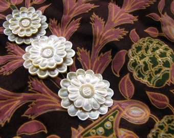 Bali Two Tiered Shell Flower 30mm Scrapbook Embellishment