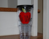 14 Teacher gift school Personalized tervis style tumbler 24 oz insulated BPA free double walled Monogrammed discount orders of 4 or more