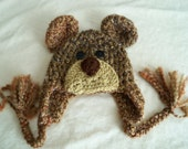 Brown Bear Grizzley Bear Hat - Baby Bear Hat - Baby Hats - Bear Hat - Winter Hat - Halloween Costume - by JoJosBootique