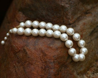 Pearl necklace Bridal Jewelry vintage necklace Pearls, Prom dress,