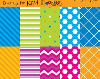 INSTANT DOWNLOAD Megan's Neon Brights Digital  Paper Pack