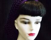 Purple Rockabilly Snood Hair Net