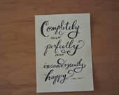 Pride and Prejudice Quote, Mrs. Darcy Quote, Jane Austen Quote, Book Quote, Typography Print, Hand Lettered Quote, 5x7 Print