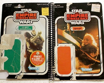 Ugnaught and C-3PO Recycled Vintage Star Wars ESB Notebook/Journal