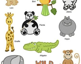 Go Wild Animals Machine EMBROIDERY Designs